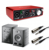 Focal Alpha 65 (Pair) + Focusrite Scarlett 2i2 (2nd Generation) Bundle