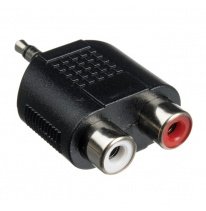 Hosa GRM-193 Dual RCA - 3.5mm TRS Adapteris
