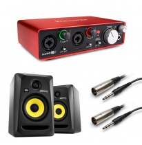 KRK Rokit RP5 G3 (Pair) + Focusrite Scarlett 2i2 (2nd Generation) Bundle