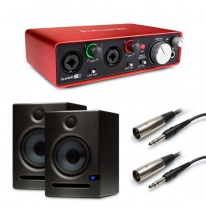 Presonus Eris E5 (Pair) + Focusrite Scarlett 2i2 (2nd Generation) Bundle
