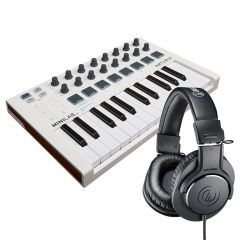 Arturia MiniLab MK2 + Audio Technica ATH-M20x Bundle