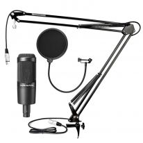Audio Technica AT 2035 + Table Stand + Pop Filter + Cable (Rent)