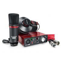 Focusrite Scarlett Solo Studio Pack 2nd Gen Įrašymo Komplektas - USB Garso Korta, Mikrofonas, Ausinės, Laidai