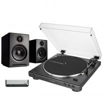 Audio Technica LP60XUSB + Audioengine A2+ Wireless (Black) Bundle
