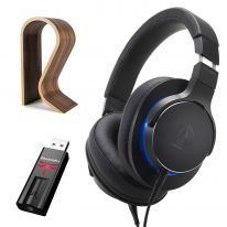 Audio Technica ATH-MSR7B (Black) + Audioquest Dragonfly Black + Glorious Stand Bundle