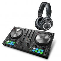 Native Instruments Traktor Kontrol S2 MK3 + Audio Technica ATH-M50x (Black)