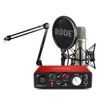Rode NT1-A + Focusrite Scarlett Solo + PSA1 Stand Bundle