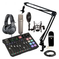 Rode Rodecaster Pro + Rode NT1-A + Headphones + Stand Bundle