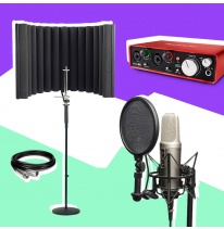 Rode NT2-A + Focusrite Scarlett 2i2 + Shield + Stand Bundle