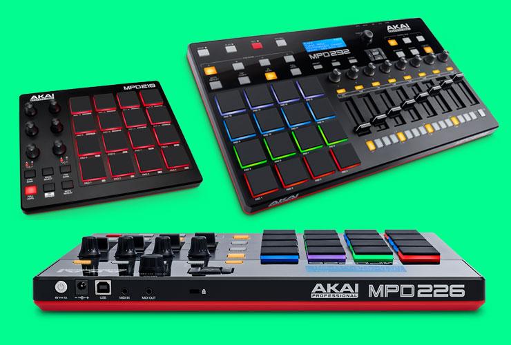 Naujiena: Akai MPD2 MIDI kontroleriai