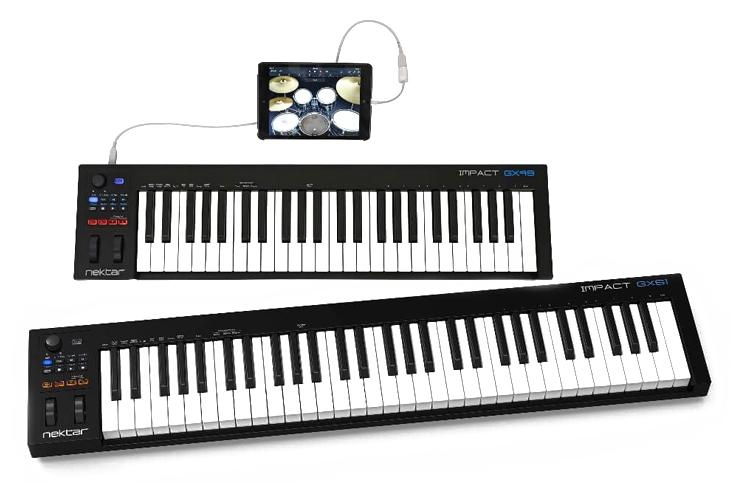Naujiena: Nektar GX49 ir GX61 MIDI klaviatūros