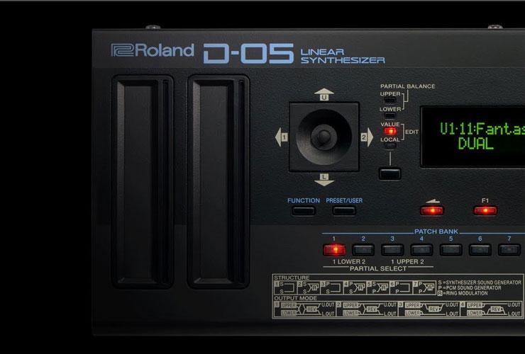 Naujiena: Roland D-05 linear sintezatorius