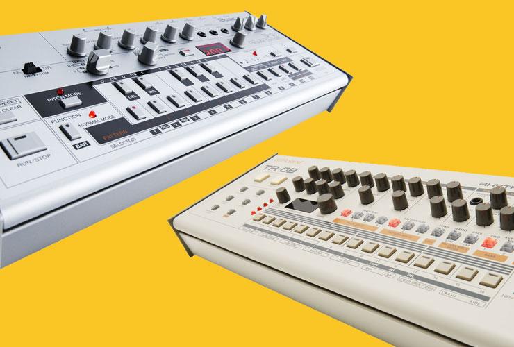 Naujienos: Roland TB-03 Bass Line sintezatorius ir Roland TR-09 Rhythm Composer ritmo mašina